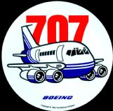 Boeing 707 Pudgy Sticker